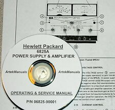 Hewlett Packard Ops & Service Manual for the 6825A Bipolar Power Supply / Amp