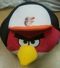 Baltimore Orioles Angry Birds Plush Toy Stuffed Animal Red w/ O's Batting helmet