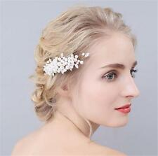 Pearls Headdress Wedding Hair Comb Diamante Bridal Headpieces Hair Accessories