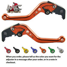 Yamaha YZF-R125 2008-2011 Short Adjustable Brake and Clutch Levers Orange