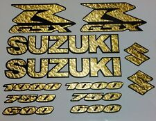 GSXR DECAL SET - GOLD LEAF - FITS 600 750 & 1000, suzuki gsx-r vinyl kit fairing