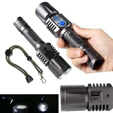 Bright 2000 Lumens USB Port CREE XML XM-L T6 LED Flashlight Torch Lamp 5-Mode