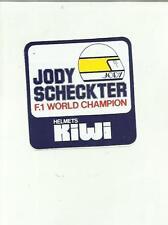 ADESIVO VINTAGE STICKER D' EPOCA JODY SCHECKTER F 1 WORLD CHAMPION KIWI HELMETS