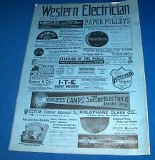 WESTERN ELECTRICIAN mag 2/16/1901 Electric Telephone Fan Patents Auto great ads