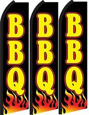 BBQ King Size  Swooper Flag banner  sign pk of 3