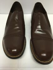 Stacy Adams Madison Brown Dress Shoes 00017 02 Slip-on Leather Upper/Sole 10 D