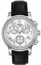AUTHENTIC TISSOT WOMENS WATCH DIAMOND BEZEL CHRONOGRAPH T050.217.16.112.01 NEW!