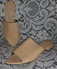 Calvin Klein Nude Tan Leather Studded Slides size 7