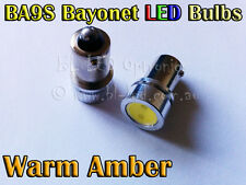 2x 1.5W Bayonet BA9S 1895 T4W SMD Amber Power LED Lamp - Parker Signal Side Bulb