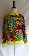 Ed Hardy All Over Print Track Jacket Tattoo Love Kills Slowly Tiger Embroidered