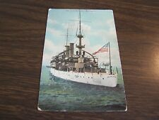 VINTAGE - U,S, BATTLESHIP - KEARSARGE  - POST CARD