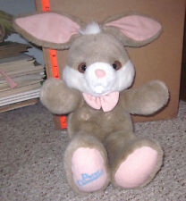 PETER COTTONTAIL plush stuffed doll 1990 Easter Bunny musical toy Here Comes