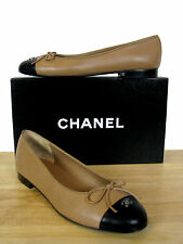 CHANEL Classic CC Leather Ballerina Ballet Flats Shoes 39.5 NIB
