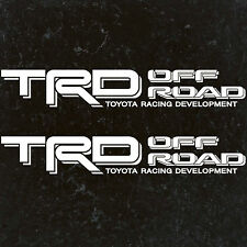 "TOYOTA TACOMA TRD OFF ROAD DECALS STICKERS (2) 18""X3"" DECALS WHITE"