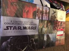 NEW STAR WARS Complete Saga - 8 LIMITED-EDITION LITHOGRAPH Set Collectible