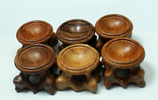 55-60g 6Pcs  patina wood tower stand pedestal holding CRYSTAL Sphere