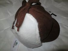 LACOSTE Boy's  Brown Winter Hat 100% Cotton, Large!