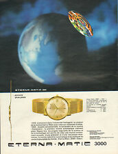 Publicité Advertising 1965  Montre ETERNA MATIC 3000