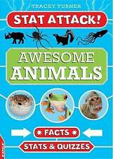 Awesome Animals: Facts, Stats and Quizzes by Tracey Turner (Hardback, 2015)
