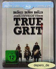 """""""TRUE GRIT"""" - Western - Jeff Bridges, Matt Damon - BLU RAY STEELBOOK - Rar/OOP"""