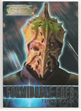 Complete Star Trek Voyager Formidable Foes Chase Card F9 Think Tank