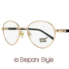 Montblanc Oval Eyeglasses MB527 028 Size: 51mm Rose Gold/Black 527