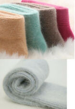 3 Pairs 100% Wool Cashmere Womens Socks Comfortable Warm Pure High Quality 5-9