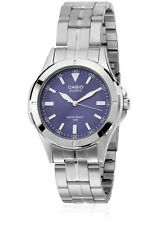 Casio MTP1214A-2A Mens Stainless Steel 50M Dress Watch BLUE Dial Luminous Hands