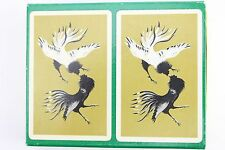 Vtg Canasta Playing Cards BLACKSTONE Set Oriental Fighting Chicken Cocks Deck