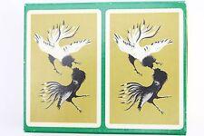 Vtg Canasta Playing Cards BLACKSTONE Set Oriental Fighting Chicken Cocks Deck