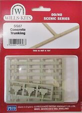 Wills SS87 Concrete Trunking New OO Gauge