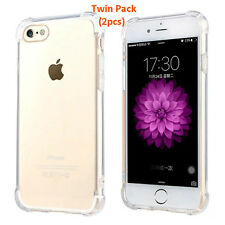 iPhone 7 Plus Cover Case Handphone Case TPU Silicon Case Twin Pack Promo (Clear)