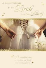 A Special Welcome To The Bride Into Our Family Modern Dress Design Wedding Card