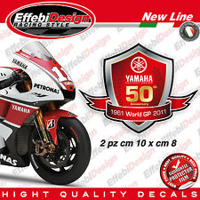 Adesivi/Stickers YAMAHA 50 Th ANNIVERSARY R1 M1 R6 FZ1 FZ6 TMAX MOTO GP NEW !!