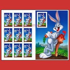 3138 Bugs Bunny pane with imperf stamp on souvenir sheet Mint MNH