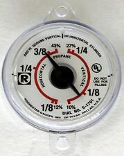 ROCHESTER MANCHESTER 5-1791 SCREW IN PROPANE SIGHT GAUGE DIAL FUEL LEVEL