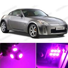 7 x Premium Hot Pink LED Lights Interior Package Kit for Nissan 350Z 2003-2008
