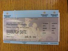 05/08/2006 Ticket: Newcastle United v Villareal [Friendly] . Footy Progs/Bobfran