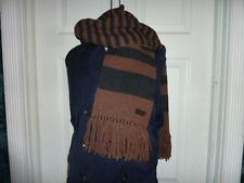 COACH 83139 Men's $198 Vicuna Knit Stripe Scarf Tassels Wool Cashmere Stripe NWT