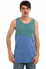 VANS OFF THE WALL STARSTRUCK TANK TOP MEN'S L LG GREEN BLUE POCKET TEE SINGLET