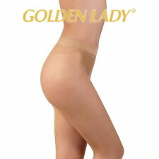 "Golden Lady ""Feel Nude"" Seamless Tights * 15 Denier * S/M - Nude Sheer Tights"