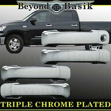 2007-2017 TOYOTA TUNDRA 4Dr Crew Cab Chrome Door Handle Covers Overlays Trims
