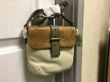 Fossil Mason Perforated Mini Bag Genuine Leather - Bone