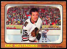 1966 67 TOPPS HOCKEY #60 ERIC NESTERENKO EX-NM CHICAGO BLACK HAWKS FREE SHIP USA