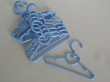 """Blue Heart Hangers 10 pack Fits 14.5"""" American Girl Wellie Wishers Doll Clothes"""