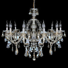 10 Lights Clear Modern Crystal Chandelier Lighting Fixture Pendant Ceiling Lamp