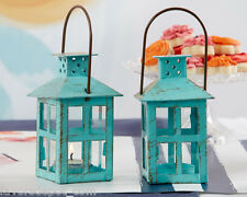 1 Vintage Blue Lantern Wedding Favors Wedding Decorations Candle