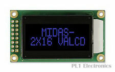 MIDAS    MC20805A12W-VNMLB    Alphanumeric LCD Display, 16, 8 x 2, Blue, 5.56 mm