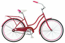 "24"" womens girls pink single speed road cruiser bike bicycle schwinn"