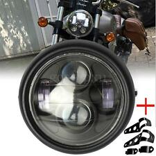 "6.5"" inch Motorcycle Headlight LED Projector Daymaker Hi/Lo + Headlight Bracket"